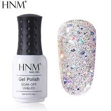 HNM, 8 мл, бриллиантовый Блестящий УФ-Гибридный лак, полуперманентный эмалированный маникюр, блестящий лак, тиснение, основа, верхнее покрытие, Новинка
