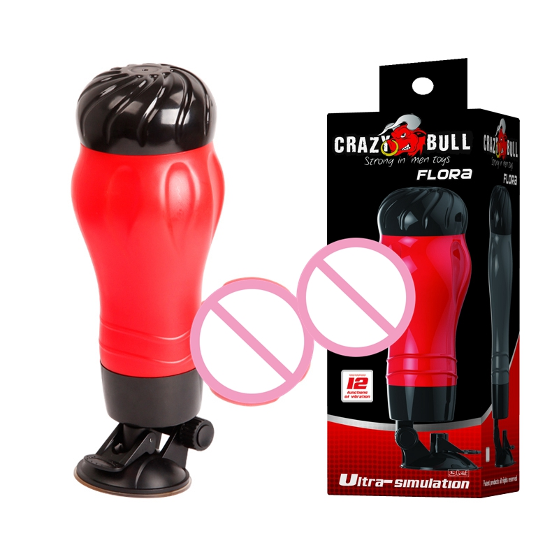 Baile Male Masturbation Cup Masturbator 12-function Vibration and Voice Suction cup