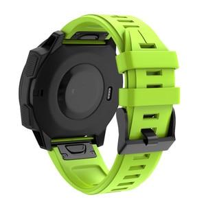 Image 5 - Garmin Fenix 5 instynkt silikonowy pasek do zegarka zespół dla Garmin instynkt pasek zapasowy pasek na nadgarstek smart Band pasek