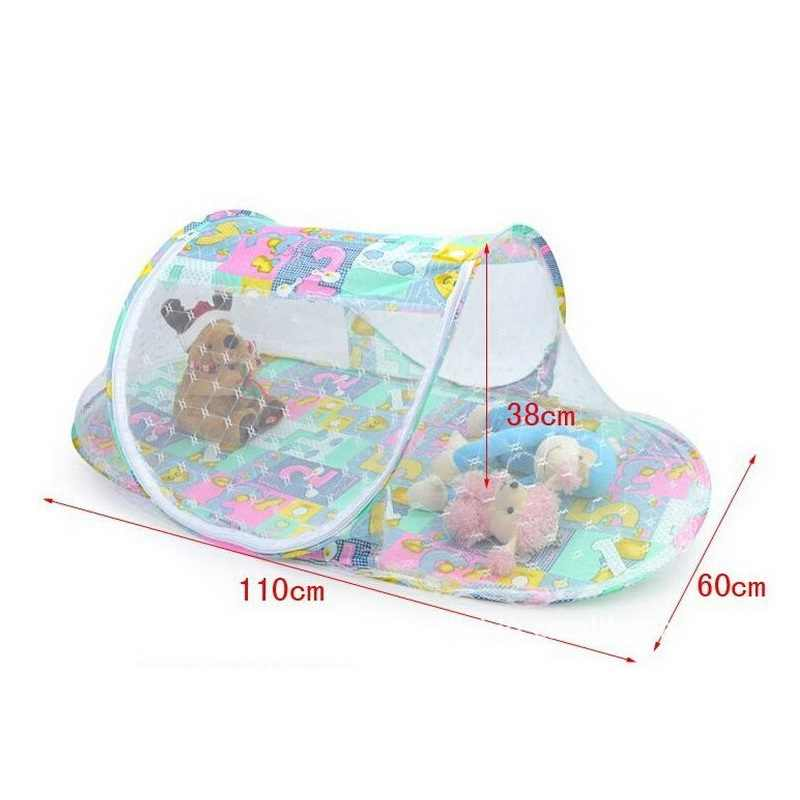 Summer Baby Mosquito Net Canopy Baby Bedding Cheap 110*60*38cm Baby Bed Mosquito Net Four Colors Moustiquaire Lit For Infant
