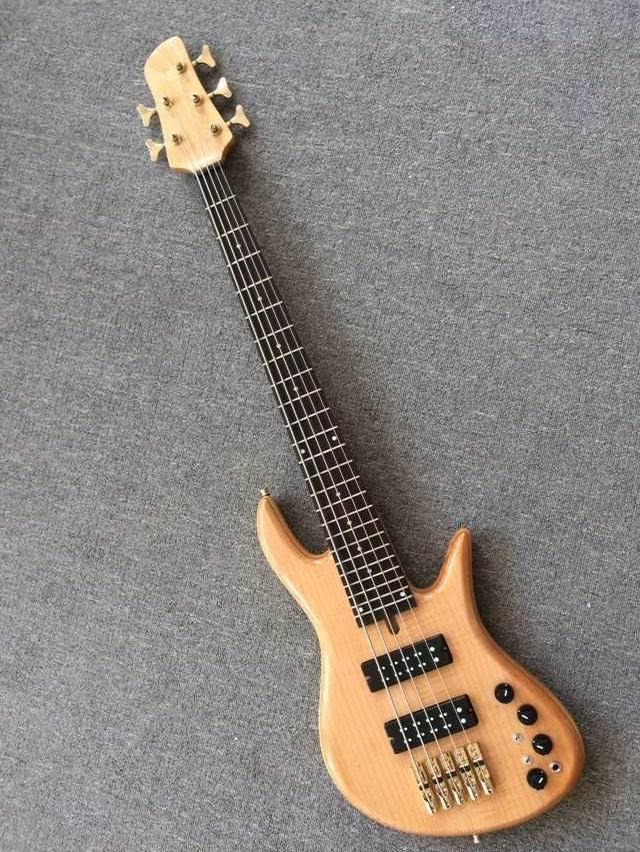 Novedad bajo eléctrico guitarra de 5 cuerdas bajo eléctrico en natural 150919