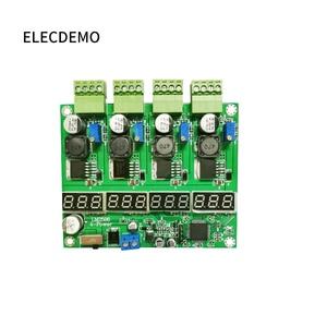 Image 2 - وحدة امدادات الطاقة متعددة القنوات التبديل أربعة شاشة ديجيتال LM2596 وحدة DC DC قابل للتعديل باك الناتج وحدة الطاقة