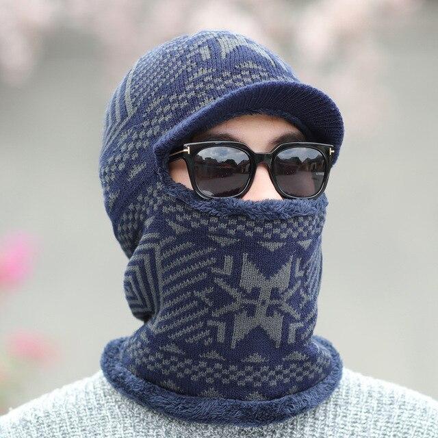 0ee0501f US $8.74 39% OFF|2018 Winter Hats Skullies Beanies Hat Winter Beanies For  Men Women Wool Scarf Caps Balaclava Mask Gorras Bonnet Knitted Hat-in ...