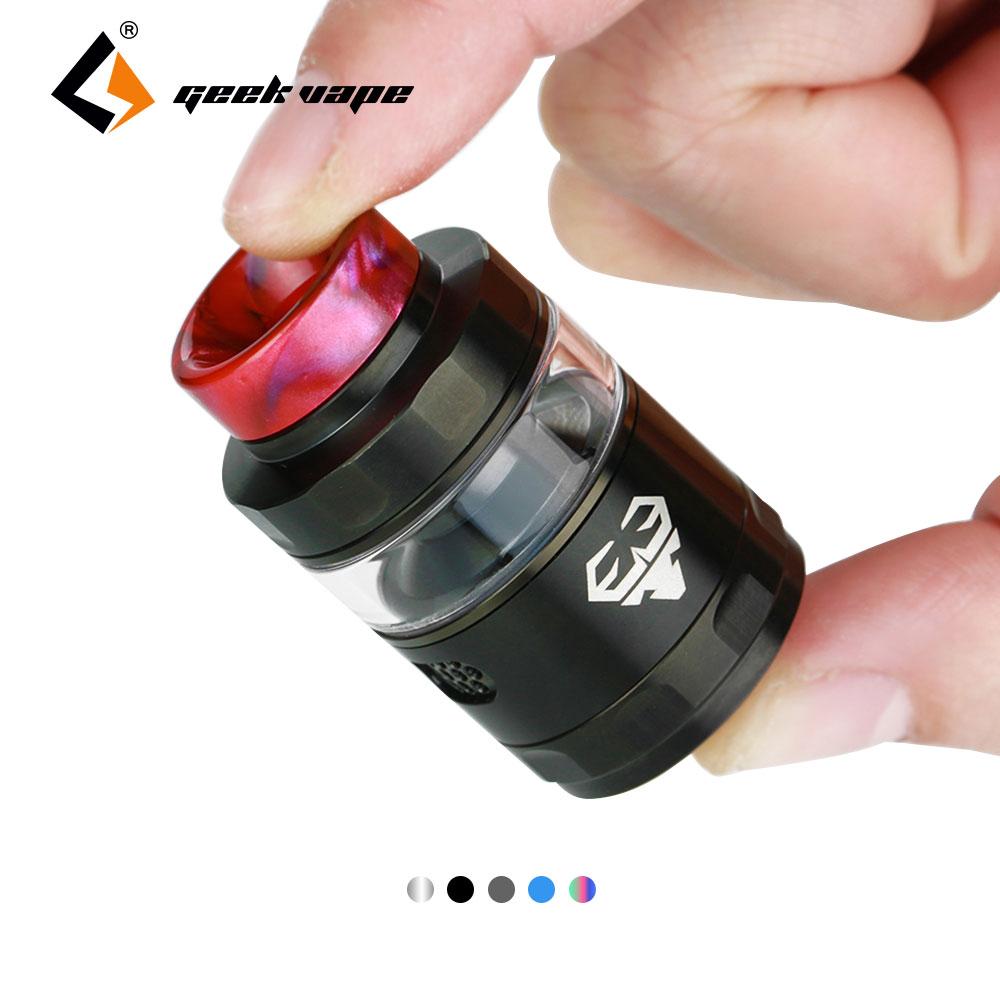 Original GeekVape Blitzen RTA Atomizer 2ml/5ml Capacity 24mm Tank Support Dual & Single Coil  For e cigs Box Mod 10pcs glass tank for ijoy exo rta