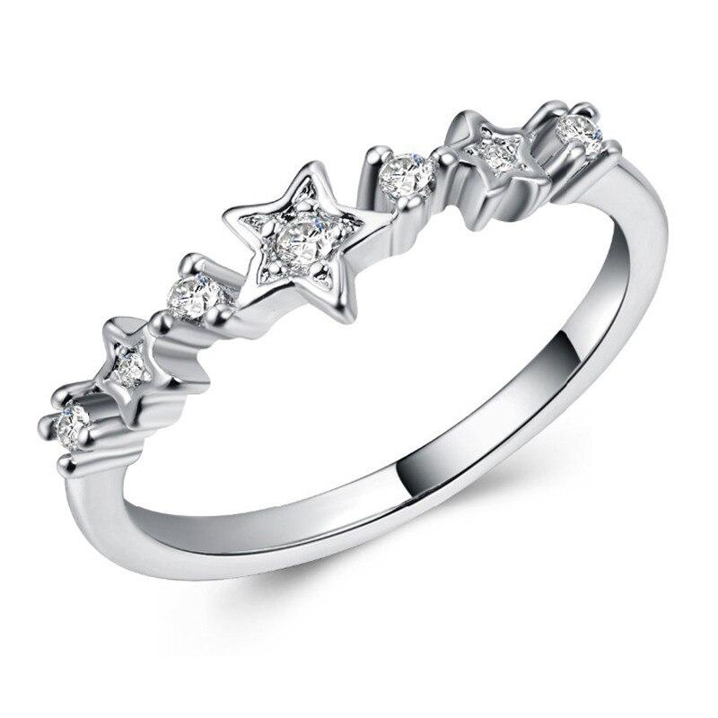 Модное Сверкающее циркониевое серебряное кольцо для женщин, цветочное сердце, корона, кольца на палец, фирменное кольцо, ювелирное изделие, Прямая поставка - Цвет основного камня: 10