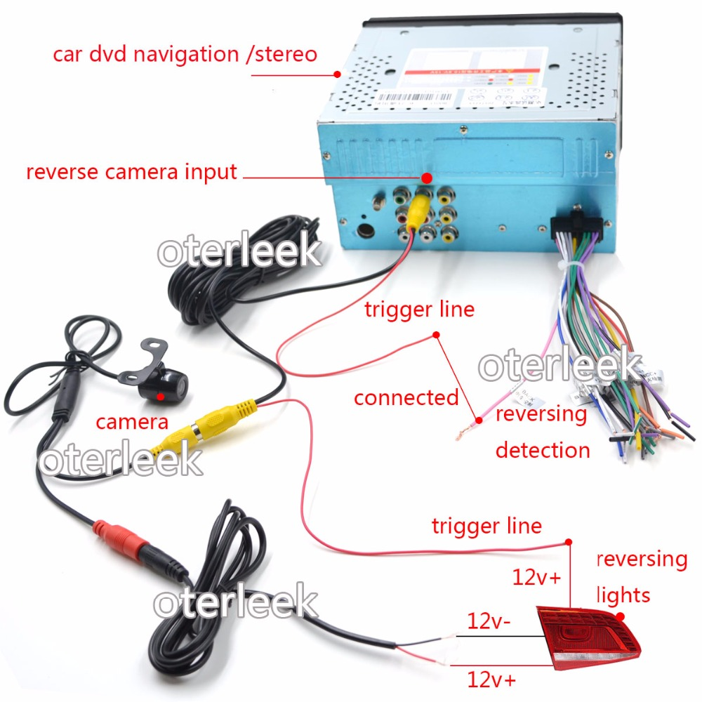 Car Camera Wiring Diagram Internal Diagrams Night Vision Auto Parktronic Eu License Plate Frame Wireless Hd Alarm