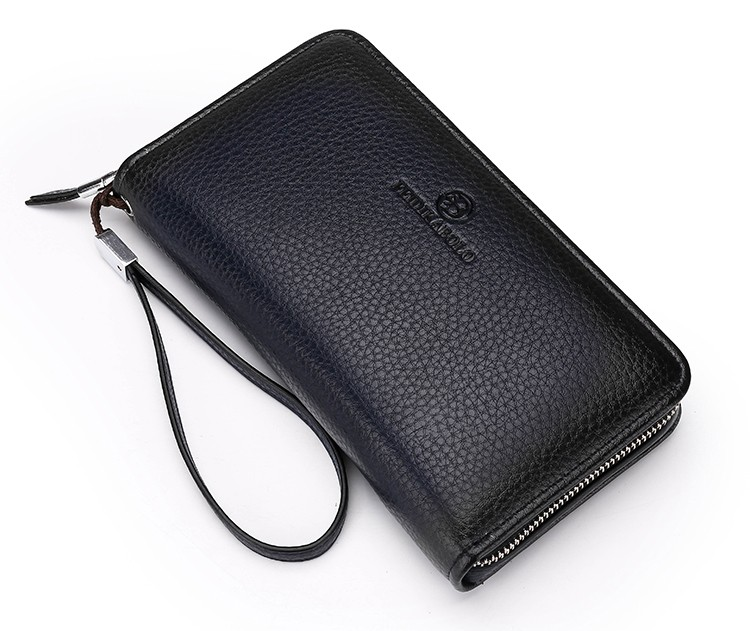2016 Luxury Male Leather Purse Men\'s Clutch Wallets Handy Bags Business Carteras Mujer Wallets Men Black Brown Dollar Price (24)