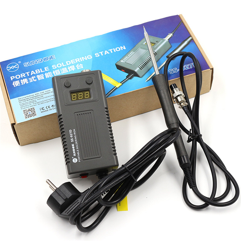 Portable digital thermostat soldering station soldering iron 220V 75W 180-450C Rapid warming esd safe 75w soldering handpiece t245a solder iron handle for di3000 intelligent soldering station
