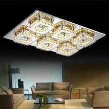 6 Lichter Luxus Top Kristall Fhrte Rechteck Deckenleuchte Bernstein Edelstahl Led Wohnzimmer Lampe