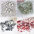 1/Pack Mezclar Tamaños 6 Colores Opcionales Crystal Clear AB No Hotfix Flatback Rhinestones de Uñas Para Uñas 3D Decoración Del Arte Del Clavo gemas