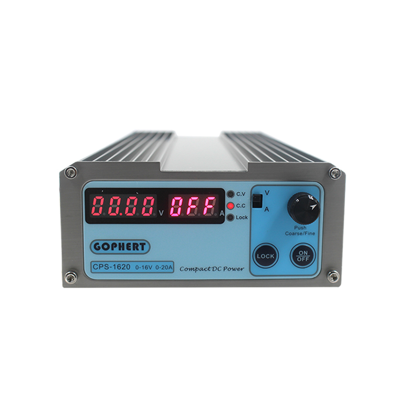 CPS 1620 300W (110Vac/ 220Vac) 0 16V/0 20A, Gopher Compact Digital Adjustable DC Power Supply CPS1620 + Plug EU/US