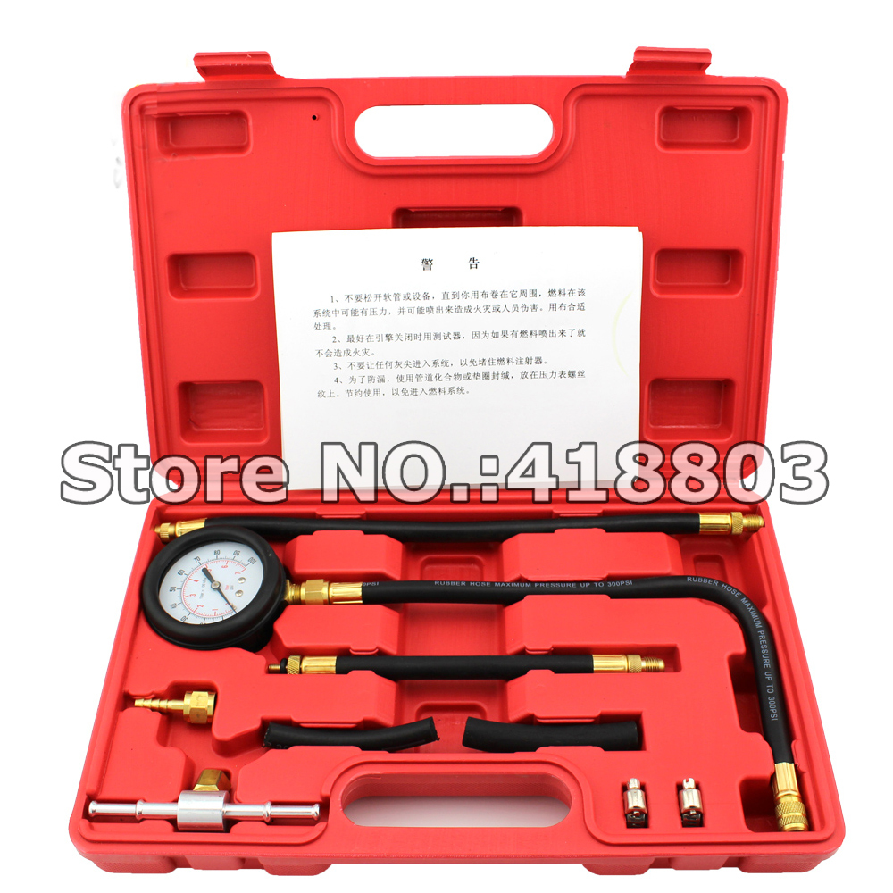 ФОТО TU-113 New Fuel Injection Pump Injector Tester Test Pressure Gauge Gasoline Cars Trucks