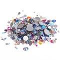 Cores misturadas AB Não Hotfix Cristal Pedrinhas SS3-SS30 Cola Flatback Em Diamantes De Vidro Apliques DIY Artesanato Roupas Suprimentos