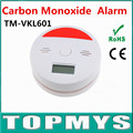10PCS/LOT Intellgent Independent CO Carbon Monoxide Detector Poisonous Toxic Smoke Alarm Detector with LCD display