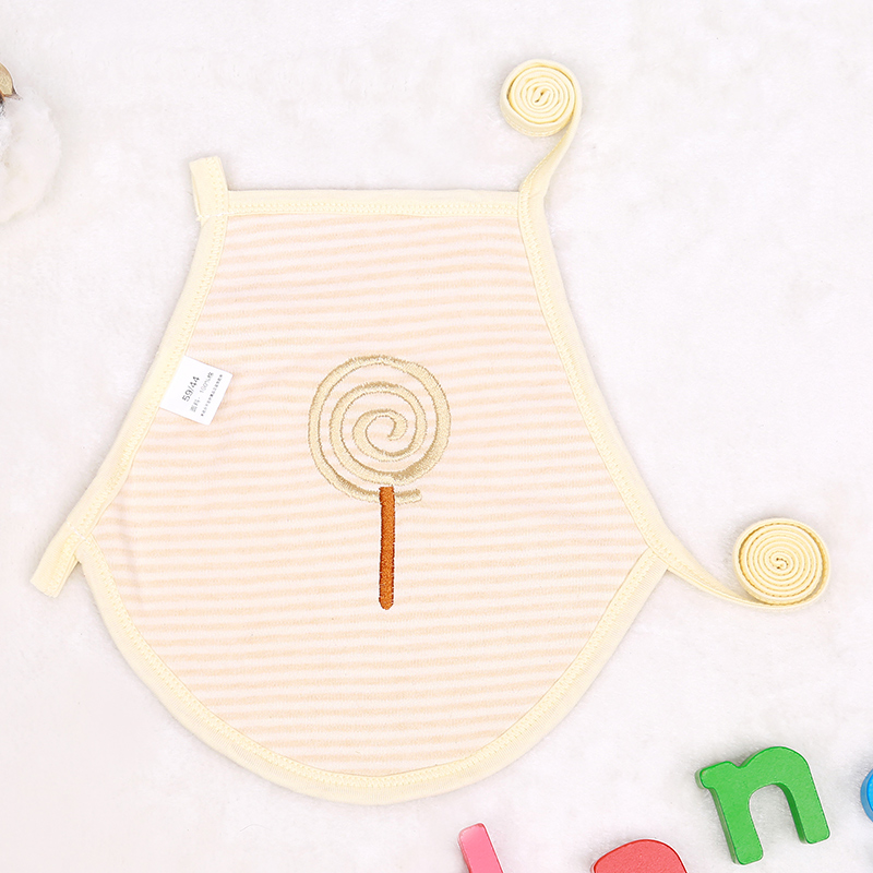 Baby Bibs Natural Colored Cotton Lunch Feeding Summer Boy Girl Toddler Kids Cute Striped Pattern Spring Bib for 0-18 Month Baby