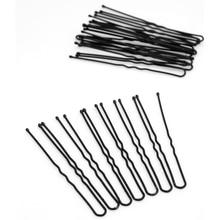 20Pcs Black Metal Thin U Shape Hair Clips For Women Hairpins Hair Pins Hairstyles Hair Accessories Headwear Metal Barrette