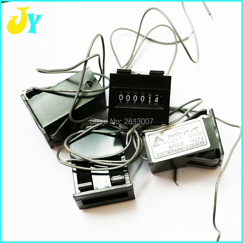 10 sztuk/partia 6 cyfr zręcznościowe monety licznik długości 12 V 18 sztuk mechaniczny licznik kaseta licznik dla automat do gry huśtawka maszyny