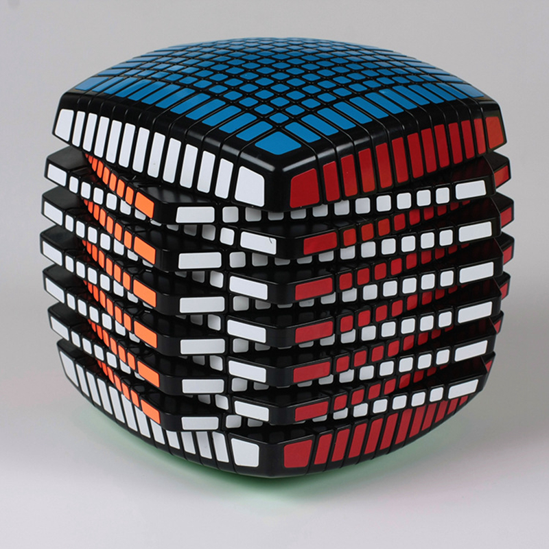 Black 13X13X13 135mm Magic Cubes Thirteen Layers Professional Speed Challenge Magic Cubes Puzzle Toy For Children Adult Gift yj yongjun moyu yuhu megaminx magic cube speed puzzle cubes kids toys educational toy
