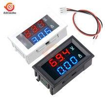 100 в 10 А Автомобильный цифровой измеритель постоянного тока, измеритель напряжения 0,56 дюйма, Мини цифровой вольтметр, амперметр, двойной дисплей 10 А вольт, амперметр