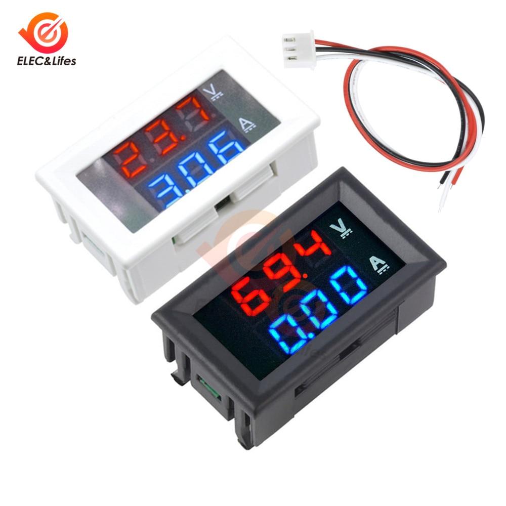 100V 10A Car DC Digital Current Voltage Meter Tester 0.56 Inch Mini Digital Voltmeter Ammeter Dual Display 10A Volt AMP Meter