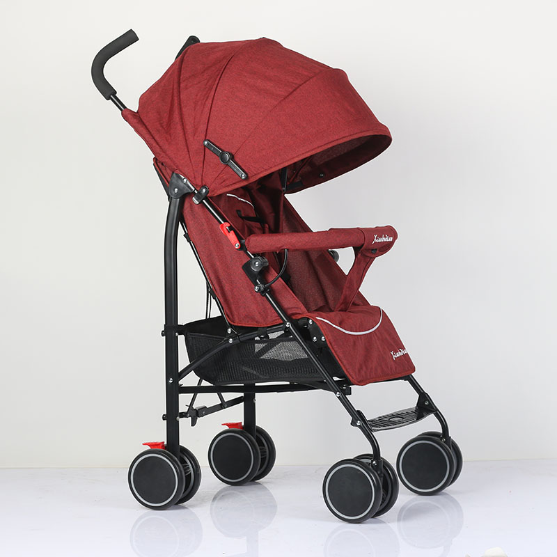 Abdo Baby Car Pram Trolley Luxury Stroller Can Sit Or Lie Suitable 4 Seasons Portable Folding Lightweight Stroller