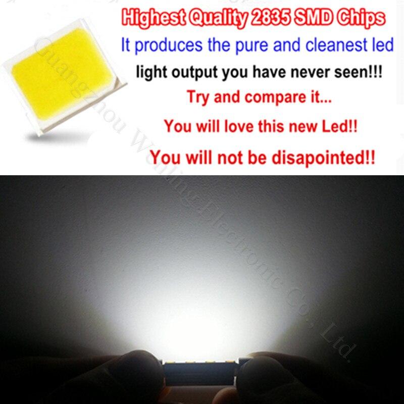 WLJH 4pcs LED svjetla u unutrašnjosti rasvjeta LED Canbus 41 / 42mm - Svjetla automobila - Foto 3