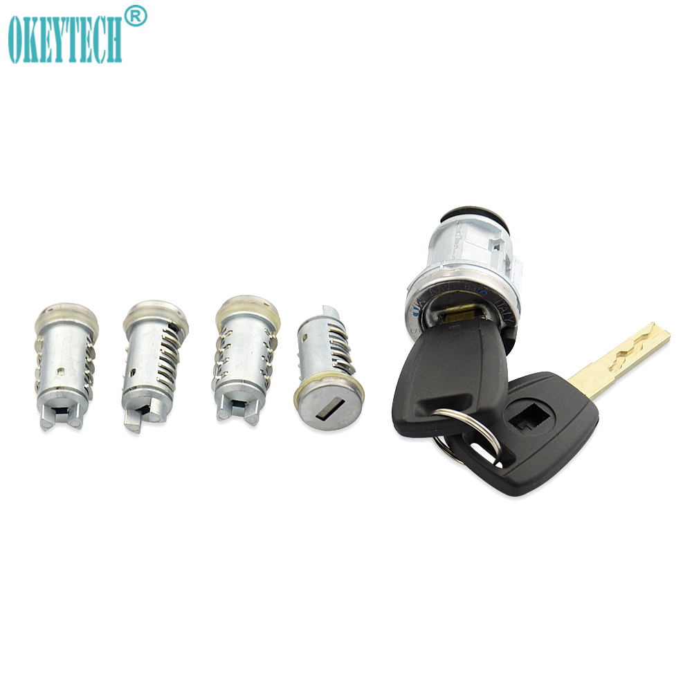 OkeyTech Lgnition Lock Set Key For Fiat Car Milling Lock Original Car Modified Car Door Cylinder Car Key Trunk Lock SIP22 Blade цена и фото