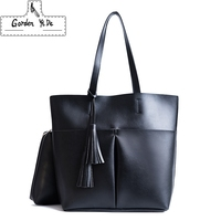 2 Set Women Composite Bag High Quality Pu Leather Shoulder Bag Large Capacity Tote Bags For