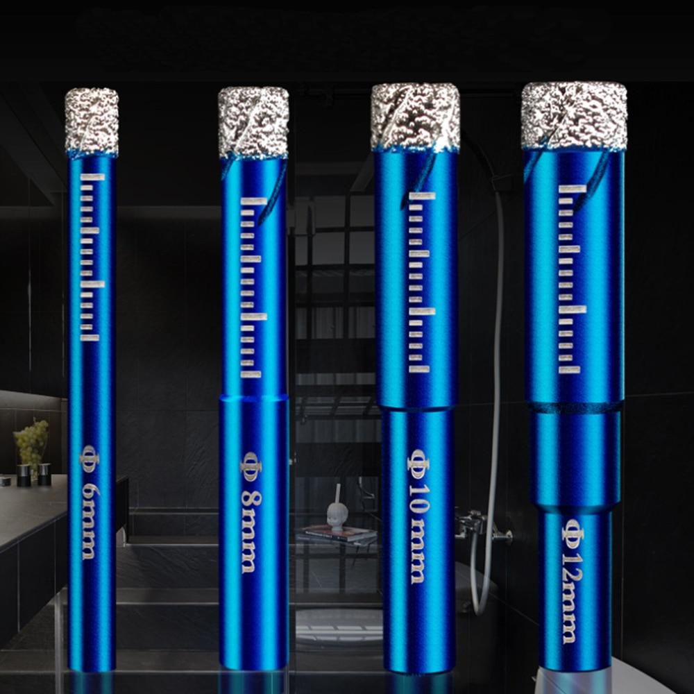 1pcs  6 8 10 12 14 16  Mm Durable Diamond Coated Core Drill Bit Dry Drilling For Glass Marble Granite Quartz Porcelain Ceramics