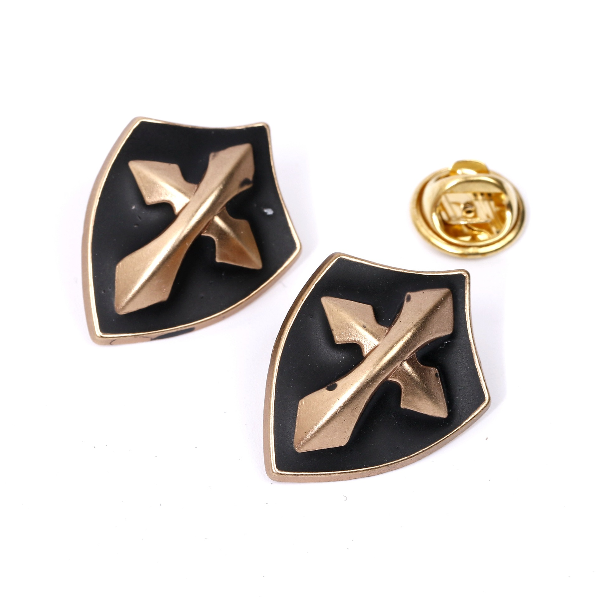 30 pieces/lot shield Cross Brooch Paint Enamel Brooches Men and Women Suits Dress Hat Collar Brooch Pins Scarf Buckle Gift