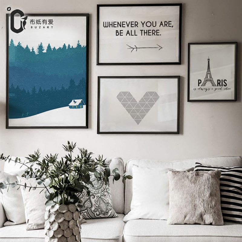 Paris Paintings for living room wall Nordic style decorative pictures - Home Decor