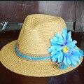 2016 Estilo Del Verano de Sombreros de Playa de Vacaciones Accesorios Margarita Azul Sennit Decoración Ladies Sombreros de Moda Visera Vincha 2016031402 u2