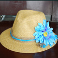 2016 Summer Style Beach Hats Holiday Accessories Blue Daisy Sennit Decoration Ladies Hats Fashion Visor Sweatband 2016031402 u2