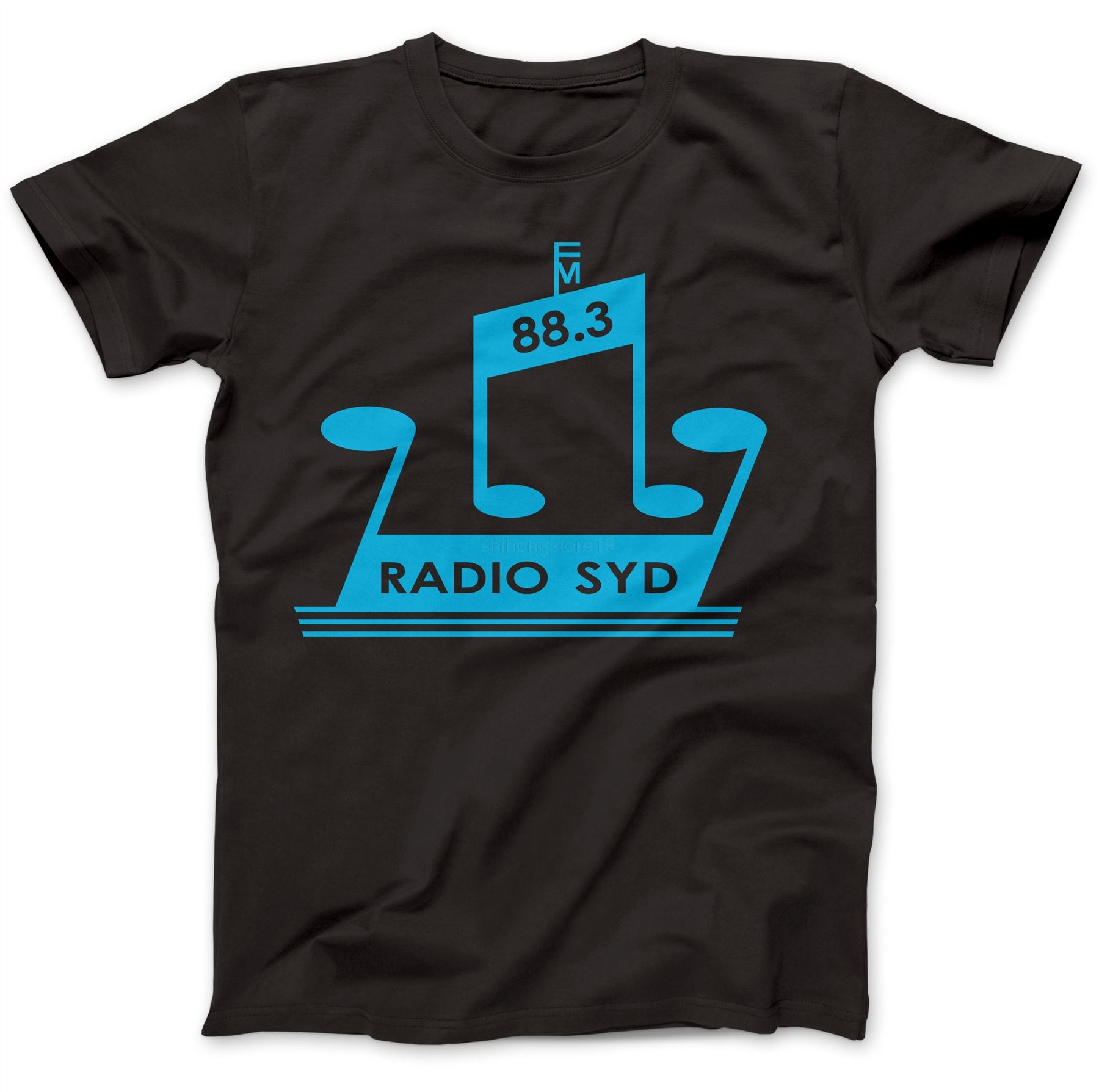 Radio Syd 88.3 As Worn By Brian Jones T-Shirt 100/% Premium Cotton Stones