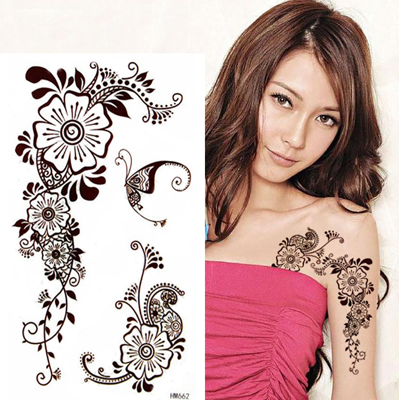 Brown Henna Tattoo: Popular Lace Tattoos-Buy Cheap Lace Tattoos Lots From
