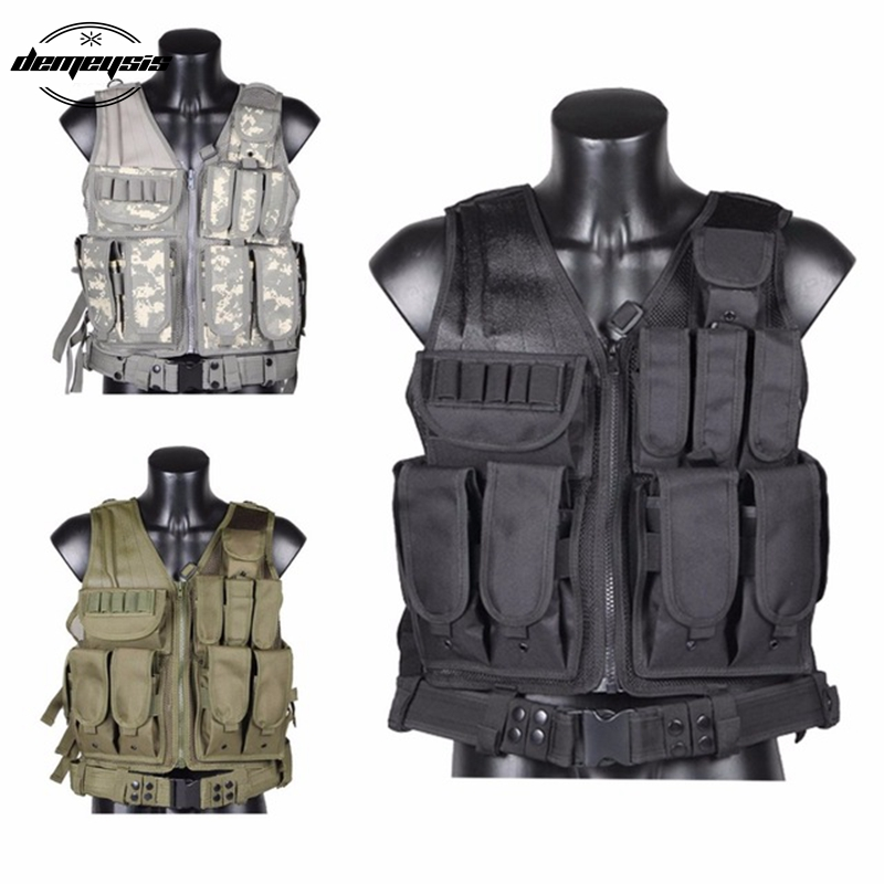 Black tan green multicam acu Military Tactical Vest Paintball Army Gear Black MOLLE Carrier Airsoft Combat Tactical Vest br7 tactical vest dark tan custom minifigure piece