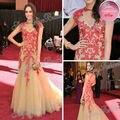 Oscar Red Carpet Dress Louise Roe Jewel A linha chão com Applique tule vestidos de celebridades