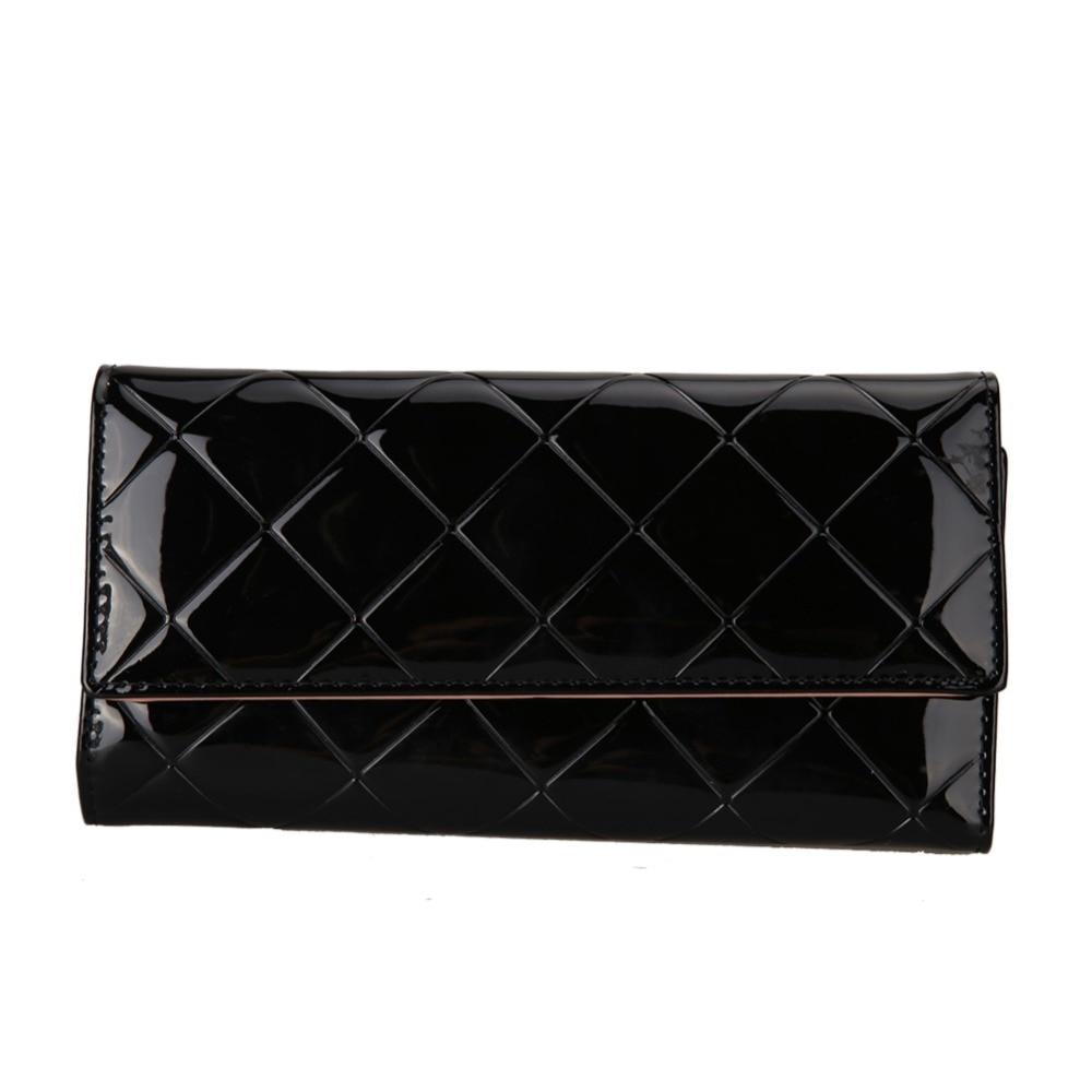2018 PU Cuir Femmes Portefeuille Longue Bourse Vintage Solide PU En Cuir Support de plusieurs Cartes D'embrayage De Mode Standard Portefeuille