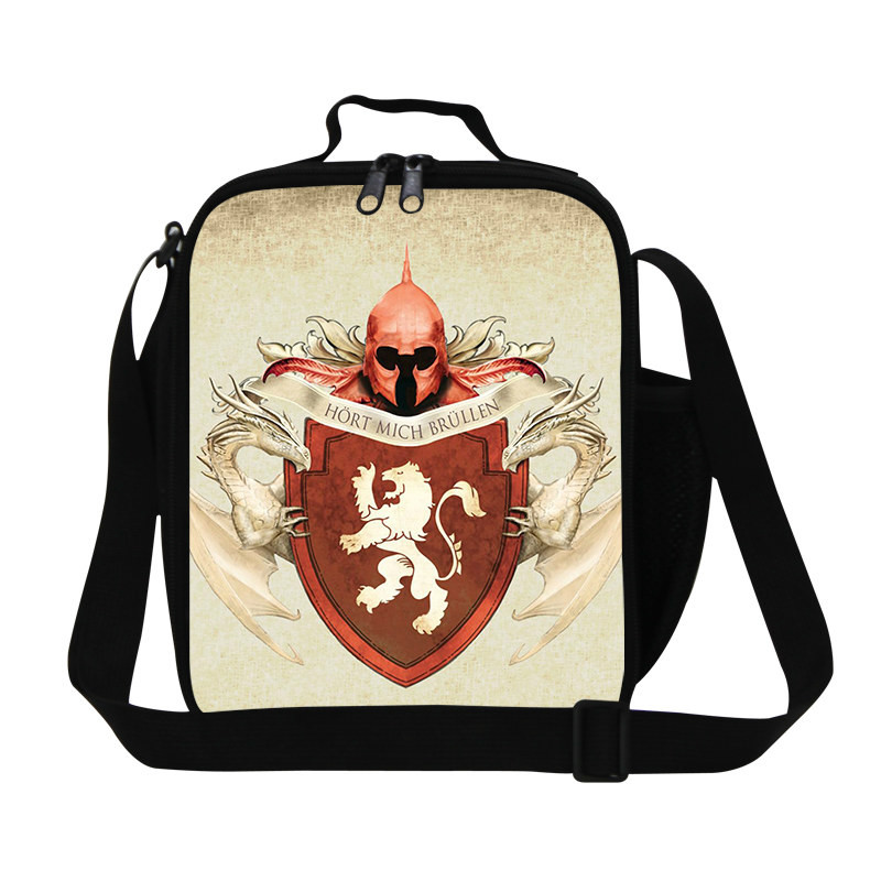 Stylish Game of Thrones School Bag For Boys Girls Lunch Bags 8