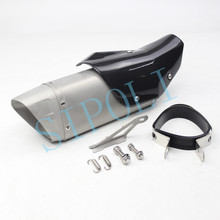 Universal 51mm  Motorcycle Exhaust Pipe Muffler Moto Escape With Carbon Fiber Cover For Yamaha R3 R6 TMAX500/530 Nmax155 AK01