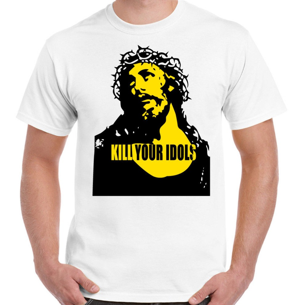 Newest Funny As Worn By Axl Rose Kill Your Idols Mens T-Shirt Guns & Roses Freddie Mercury Plus Size Casual Clothing