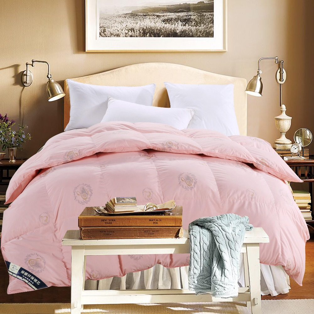 winter fake duck down comforter quilted king queen double single