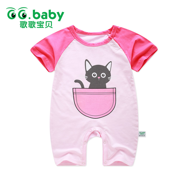 2017 Cute Newborn Baby Girls Romper Children Infant Baby Kids Boys Cartoon Rompers Overalls Baby Boy Girl Romper Jumpsuit Romper puseky 2017 infant romper baby boys girls jumpsuit newborn bebe clothing hooded toddler baby clothes cute panda romper costumes