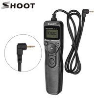 SHOOT RS 60E3 LCD Timer Shutter Release Remote Control for Canon EOS 1300D 1100D 1200D 1000D 100D 350D 500D 550D 650D 700D 750D|shutter release remote control|remote control for canon|shoot rs-60e3 -