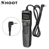 SHOOT RS-60E3 LCD Timer Shutter Release Remote Control for Canon EOS 1300D 1100D 1200D 1000D 100D 350D 500D 550D 650D 700D 750D
