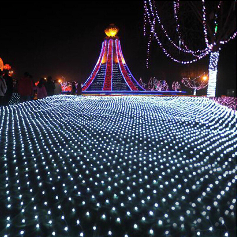 4 * 4m 620 LED Net light string Christmas Lighting Outdoor Garden garland Holiday Party Wedding Decorative Lights decoration eu us plug 4 6m led net string light white warmwhite rgb blue twinkle lamp garland wedding party christmas decoration lights