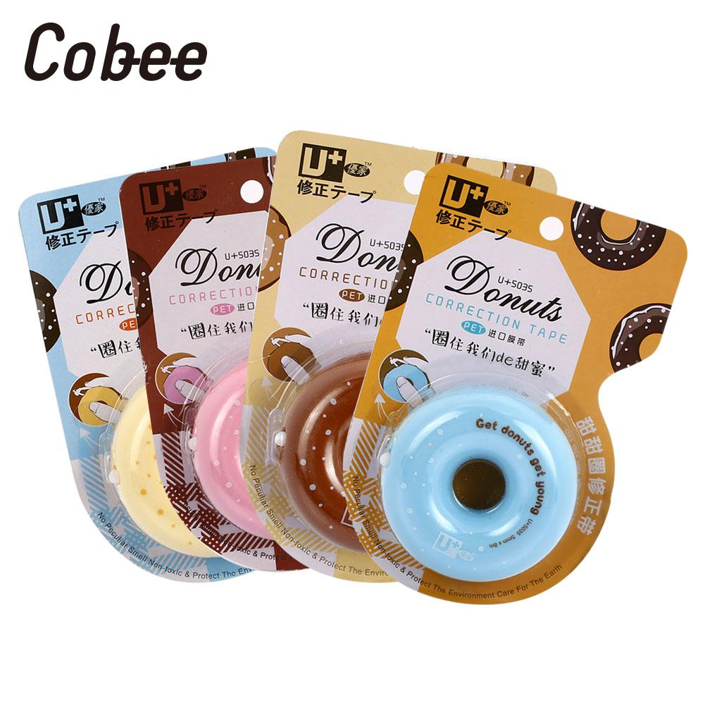 8M Correction Tape Donut Correction Roller Office Press Correction Tape Random Color White Out 4 Color