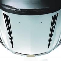 12*80CM 1Pair Car Racing Sport Stripe Hood decals Vinyl Graphics Motor Bonnet Funny Novelty JDM Drift Car Stickers