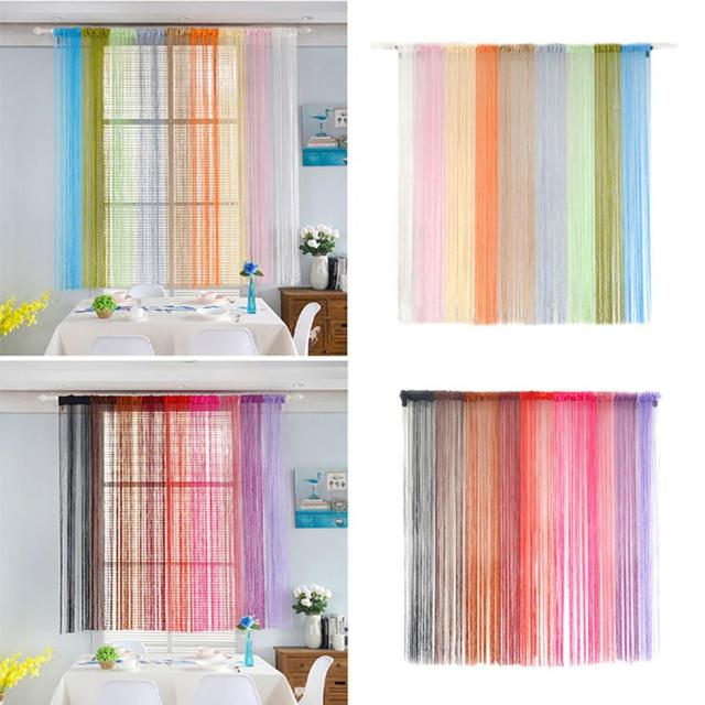Curtain Living Room Window String Curtains Patio Net Fringe For Door