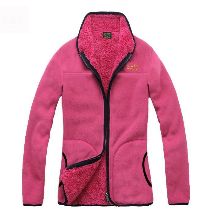 New Winter Fleece Warm Jacket Women Thermal Breathable Coat Outerwear Clothes